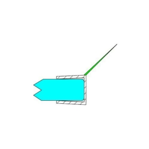 h - profil 135° 8 mm üveghez DUAL-P-2-8 MM