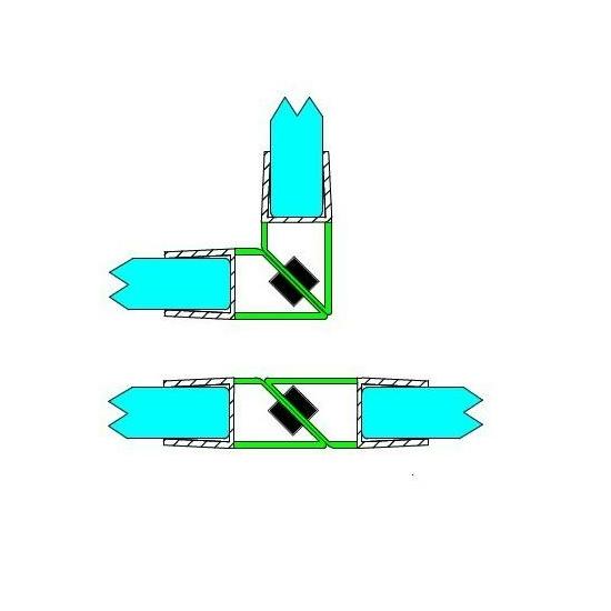 Mágneses profil 90 - 180° 10 mm-es üveghez DUAL-M-9-10 MM