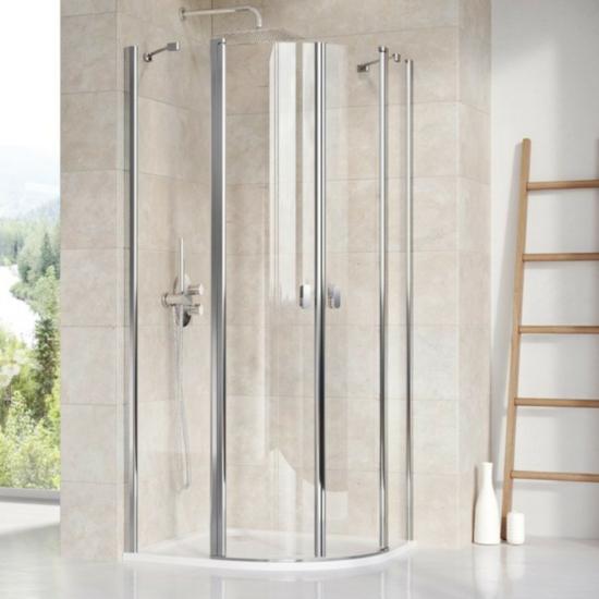 Ravak Chrome CSKK4 íves zuhanykabin 90 x 90 x 195 cm