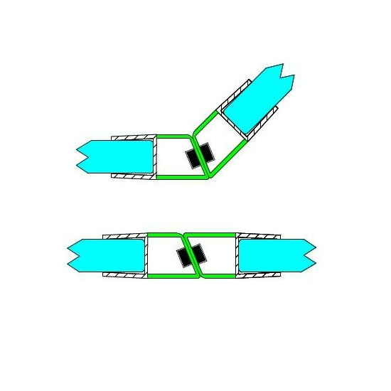 Mágneses profil 135 ° 8 mm-es üveghez DUAL-M-8-8 MM