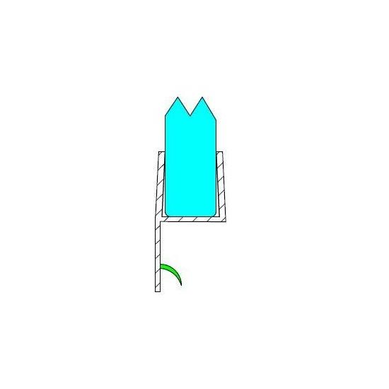 h - profil 6-8 mm - es szoknyával,kemény DUAL-P-1-8 MM