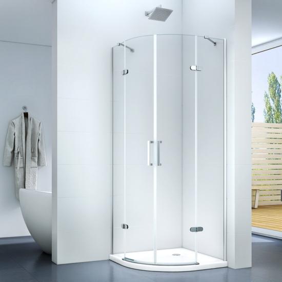 Torri 90 x 90 x 195 cm íves nyílóajtós zuhanykabin