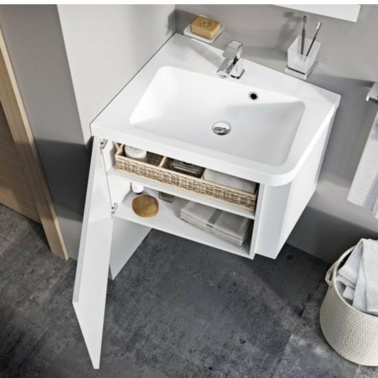 Ravak 10° mosdó alatti szekrény fényes fehér 550, sarok kivitel