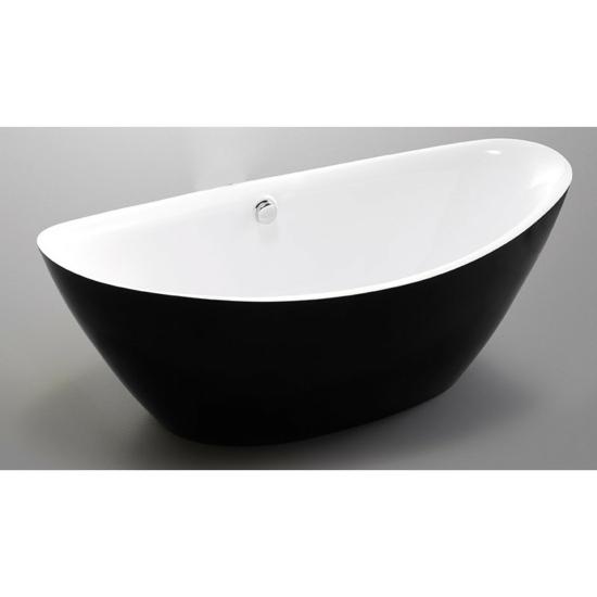 Wellis Arezzo Black szabadon álló kád  180 x 87 x 65 cm