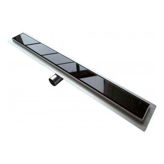 Zuhanyfolyóka fekete üveggel 80x7 cm