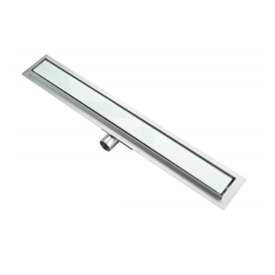 Zuhanyfolyóka fehér üveggel 60x7 cm