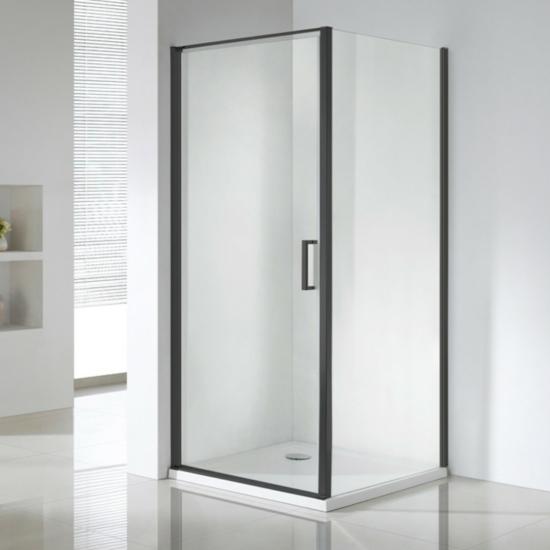 Wellis Quadrum Black zuhanykabin 90 x 90 x 190 cm