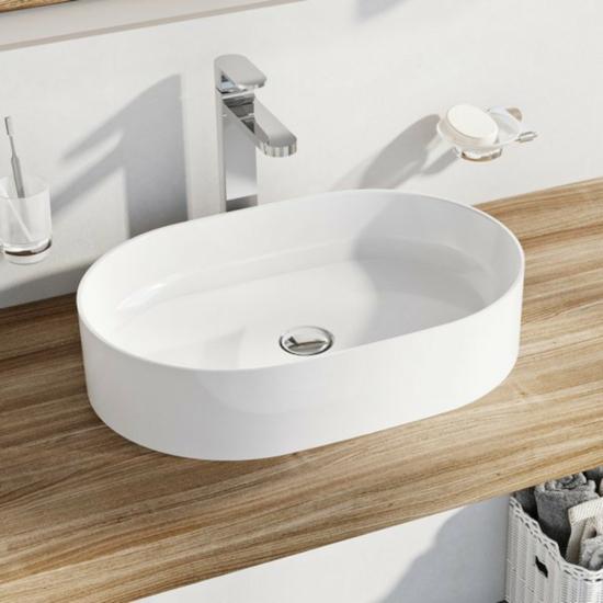 Ravak Ceramic Slim O mosdó túlfolyó nélkül 550 x 370 x 120 mm