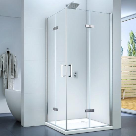 Cremona Duo 90 x 90 x 195 cm zuhanykabin dupla belapozható ajtó