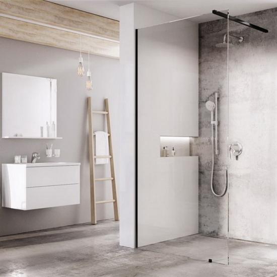 Ravak WALK-IN WALL 90x200 cm zuhanyfal fekete