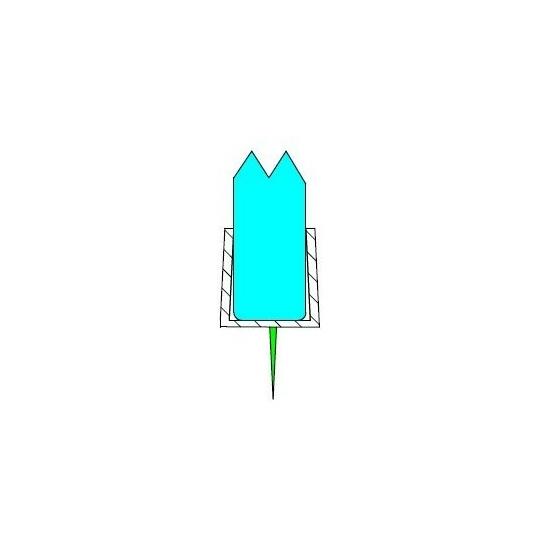 Alsó vízvezető 10 mm üveghez DUAL-P-3-10 mm