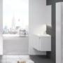 Kép 4/5 - Ravak 10° mosdó alatti szekrény fényes fehér 650, sarok kivitel_3