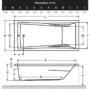 Kép 2/2 - Wellis Huron akril kádtest 170 x 75 x 62 cm_1