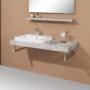 Kép 1/37 - Sanglass S-line vastag pult mosdóval 110 x 50 x 8 cm