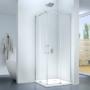 Kép 1/3 - Rezzo 80 x 80 x 195 cm tolóajtós zuhanykabin