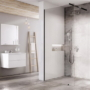 Kép 1/6 - Ravak WALK-IN WALL 80x200 cm zuhanyfal fekete