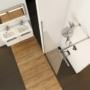 Kép 6/6 - Ravak WALK-IN WALL 60x200 cm zuhanyfal fekete_4