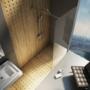 Kép 3/6 - Ravak WALK-IN WALL 90x200 cm zuhanyfal fekete_1