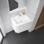 Kép 3/5 - Ravak 10° mosdó alatti szekrény fényes fehér 650, sarok kivitel_2