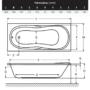 Kép 2/2 - Wellis Malawi akril kádtest 140 x 70 x 60 cm_1