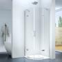 Kép 1/5 - Torri 90 x 90 x 195 cm íves nyílóajtós zuhanykabin
