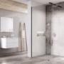 Kép 1/6 - Ravak WALK-IN WALL 60x200 cm zuhanyfal fekete