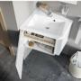 Kép 1/5 - Ravak 10° mosdó alatti szekrény fényes fehér 550, sarok kivitel