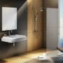 Kép 2/6 - Ravak WALK-IN WALL 60x200 cm zuhanyfal fekete_0