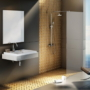 Kép 2/6 - Ravak WALK-IN WALL 90x200 cm zuhanyfal fekete_0