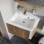 Kép 1/2 - Ravak 10° mosdó alatti szekrény fényes dió 550, sarok kivitel