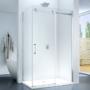 Kép 1/5 - Capri 90 x 120 x 195 cm szögletes tolóajtós zuhanykabin