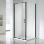 Kép 1/4 - Wellis Quadrum Black zuhanykabin 90 x 90 x 190 cm
