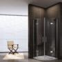 Kép 3/5 - Torri 90 x 90 x 195 cm íves nyílóajtós zuhanykabin_1