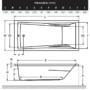 Kép 2/2 - Wellis Huron akril kádtest 180 x 80 x 62 cm_1